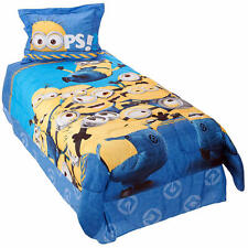 Despicable Me Minions Mishap Twin Sz Reversible Comforter Sham Bedskirt 3-Pc Set