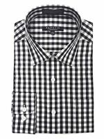 Marquis Men's Gingham Checkered Long Sleeve Modern Fit Shirt
