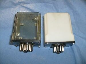 Two small relay Cases with sockets from radio repair shop / f3
