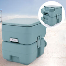 Green 5 Gallon 20L Portable Toilet Flush Travel Camping Commode Outdoor/Indoor