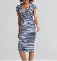NEW BRAVISSIMO 12-18 CRC RSC Flo Washed Stripe Dress Evening Casual Dress (BR44)