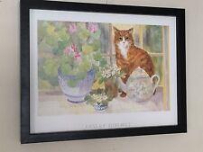 Leslie Holmes, framed cat prints - 12''x16'' frame, cat wall art