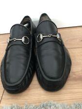 Gucci Mens Shoes Black Leather Horsebit Loafer Uk 11 Eu 45