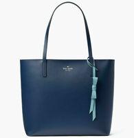 NWT Kate Spade Lawton Way Rose Smooth Navy Leather WKRU6709 $299 Retail