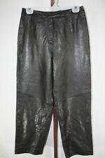 Amanda Smith Petite Womens Ladies Black Leather Pants Size 8P
