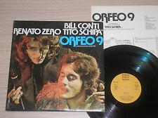 RENATO ZERO, TITO SCHIPA - ORFEO 9 - RARO 2 LP 33 GIRI CON POSTER