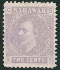 Sarawak James Brook administration 2c Mauve-lilac stamp (SG 3) 1875 Mint.