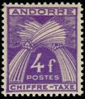 """ANDORRE FRANCAIS STAMP TIMBRE TAXE N° 28 """" CHIFFRE-TAXE 4F """" NEUF x TB"""
