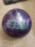 15.8 Lbs Purple Brunswick Zone Classic Bowling Ball Used B019