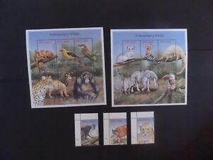 Sierra Leone 1999 wildlife bird lion monkey SG3131/45 MNH UM Unmounted mint