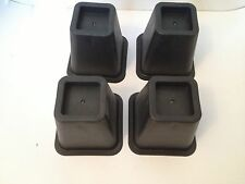 4 Square Furniture Risers Blocks feet - Mobility Aid for raising bed, chair etc