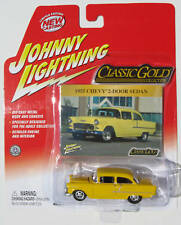 JOHNNY LIGHTNING R22 CLASSIC GOLD 1955 CHEVY 2DR SEDAN