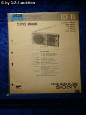 Sony Service Manual ICF 15 2 Band Receiver (#2928)