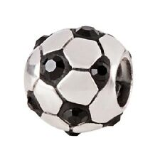SilveRado Swarovski Cystal Soccer Football Pan dora European Charm Bead