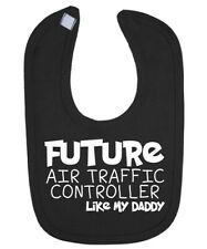 Future Air Traffic Controller Like DADDY Baby Bib Funny Gift Novelty Humour