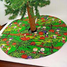 "Handmade Mini 18"" Snoopy tree skirt PEANUTS CHARLIE BROWN HALLOWEEN PUMPKIN"