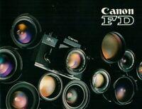 CANON - FD - Prospekt Broschüre für Kamera - B18736