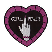 Feminist patch - girl-power iron-on embroidered punk  - FREE Australian postage