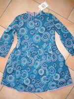 (149) Süßes bellybutton Girls Langarm Kleid Blumen Motiv mit Unterkleid gr.98