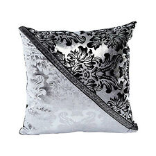 Vintage Black Silver Throw Pillow Case Cushion Cover Waist Car Sofa Home Decor
