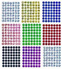 56 Bügelpailletten Hologramm, 8 mm rund, Hotfix Pailletten zum Aufbügeln