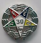 30 YEAR SERVICE AWARD lapel pin ORDER OF EASTERN STAR silver