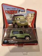 Mattel Disney Pixar Cars 2 MILES AXLEROD #17 Car 1:55 Scale Rare