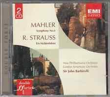 MAHLER SINFONIA N 6 STRAUSS EIN HELDENLEBEN BARBIROLLI - 2 CD