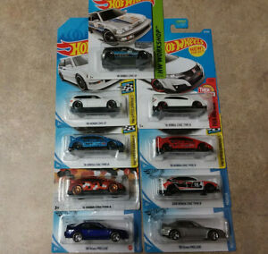 Hot Wheels 90 HONDA CIVIC EF -ZAMAC-WALMART + VHTF CIVIC TYPE R,BOTH PRELUDES!!