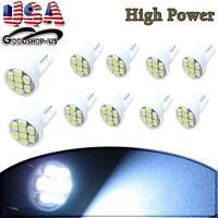 10x T10 8-SMD White LED Interior Instrument License Light W5W 194 168 2825 158