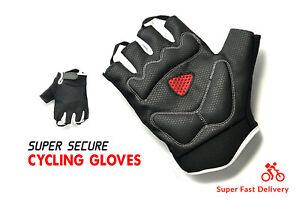 Cycling Half Finger Bicycle Gloves Thermal Anti-Slip Padded MTB BMX Bike Sports