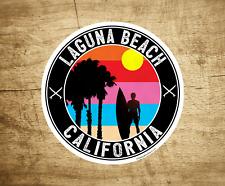 "Laguna Beach California Decal Sticker 3"" Los Angeles Surfing Ocean Surf"