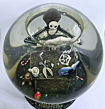 Nightmare Before Christmas Spider Snow Flake Globe Rare Disney  jack skellington