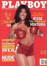 PLAYBOY NOVEMBER 1999 Mia St. John Kara Wakelin Jesse Ventura WWF Maria Carey RC