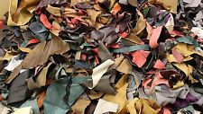 4kg Bag of Mixed Colours Quality Leather Arts & Crafts off Cuts Scrap Remnants