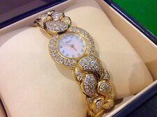 CHOPARD CASMIR RARE + BEAUTIFUL FULL DIAMOND SOLID 18KT GOLD TIMEPIECE - POSS PX