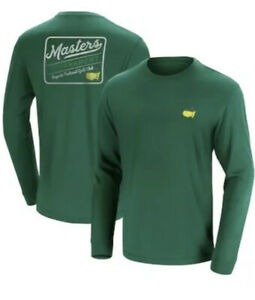 Masters Golf Retro T-Shirt Long Sleeve Large From Augusta National Green