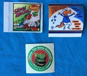 Original Advertising Stickers, 7 Eleven, Allen's & Spino Saurus x 3 8cm across.