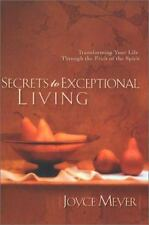 the Secrets to Exceptional Living a hardcover book by Joyce Meyer FREE SHIPPING