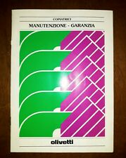OLIVETTI LIBRETTO DI MANUTENZIONE E GARANZIA 1992