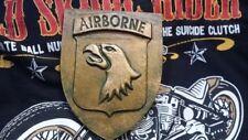 Blason Artisanal de la 101° Airborne  ( Finition Bronze )