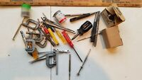 LOT OF clamps and tools  vintage train master mix