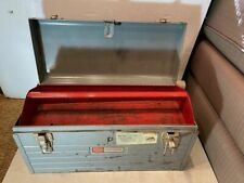 "Vintage Sears Craftsman Model 6500 Toolbox 18"" Tool Box Grey Steel"