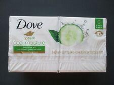 New 6 Bars Soap DOVE Cool Moisture Cucumber Green Tea 4 oz. LOW Expedite Shippin