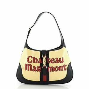 Gucci Chateau Marmont Jackie Hobo Embroidered GG Coated Canvas Medium