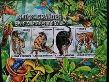Sao Tome & Principe 2015 / Big Cats of the Rainforest / 4v minisheet