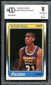 1988-89 Fleer #57 Reggie Miller Rookie Card BGS BCCG 8 Excellent+