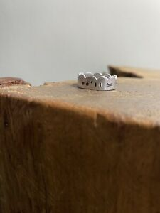 Personalised Hand Stamped Jewellery, Thumb Cuff Ring