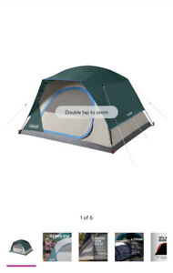 Brand NEW Coleman 4-Person Dome Tent green. This tent is great for camping with