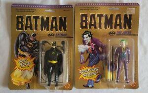 VIntage 1989 Toy Biz BATMAN & JOKER figure lot  Movie MOC SEALED keaton